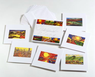 12 silky notecards 6½ X 6½ and premium white envelopes.